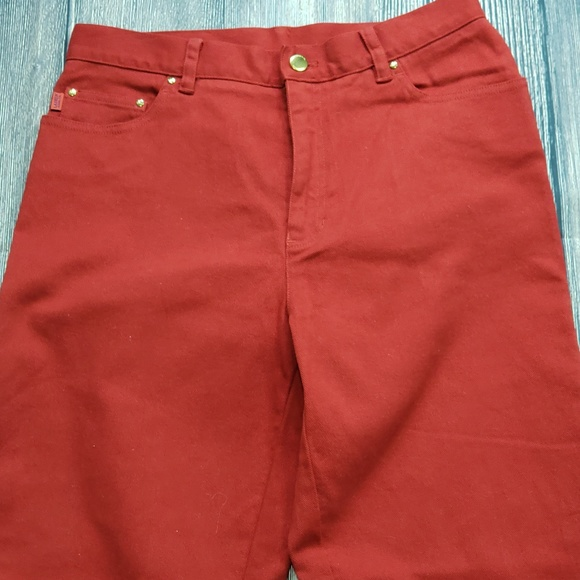 Ralph Lauren Jeans Denim - Ralph Lauren RED Denim Jeans, Size 10